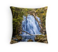 waterfall cadair idris Throw Pillow