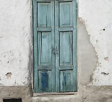 Black Dog and Blue Door by rhamm