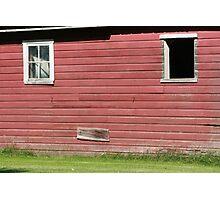 Barn Wall With Windows Photographic Print