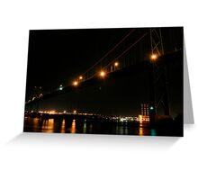 Bridge at Night Greeting Card