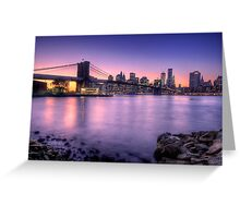 Brooklyn bridge park in sunset Greeting Card