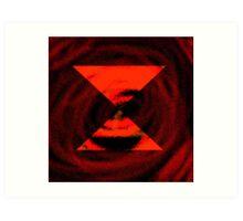 Philosopher Deadlock in Red Art Print