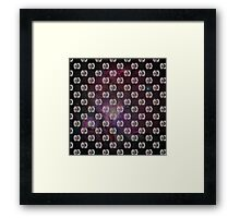 Tie Fighter - Star Wars Inspired Galaxy Pattern Framed Print