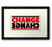 Change Mirror View Framed Print