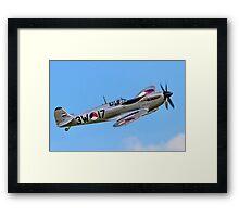 """Spitfire LF.IXc MK732/3W-17 PH-OUQ """"Polly Grey"""" Framed Print"""