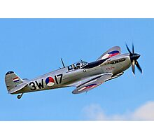"Spitfire LF.IXc MK732/3W-17 PH-OUQ ""Polly Grey"" Photographic Print"