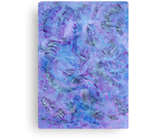 Cerulean and Mauve Handmade Abstract Background Metal Print