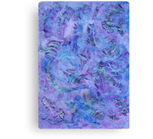 Cerulean and Mauve Handmade Abstract Background Canvas Print