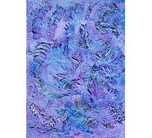 Cerulean and Mauve Handmade Abstract Background Photographic Print