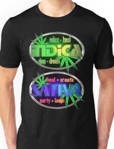 Indica Sativa Marijuana  Unisex T-Shirt