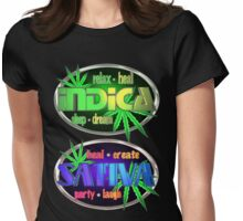 Indica Sativa Marijuana  Womens Fitted T-Shirt