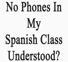 No Phones In My Spanish Class Understood?  by supernova23
