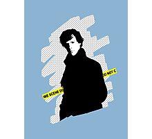 SHERLOCK BBC - Crime scene, do not cross. Photographic Print