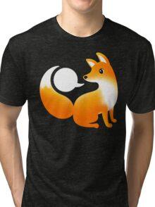 WHAT DOES A FOX SAY? Tri-blend T-Shirt