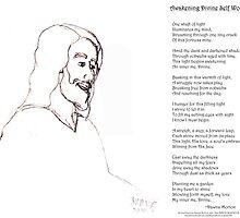 Awakening Divine Self Worth, sketch of Jesus 2 by Dawna Morton