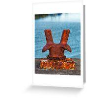 BURGHEAD BOLLARD Greeting Card