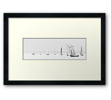 Yachts on Lake Geneva Framed Print