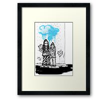 W.A.T.F. and the cloud graffiti Framed Print