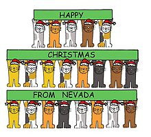 Cats in Santa hats Happy Christmas from Nevada. by KateTaylor