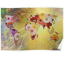 Floral Map Poster