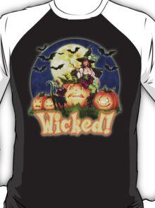 Halloween Witch & Black Cat T-Shirt