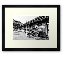 Wagon and wood pile Framed Print
