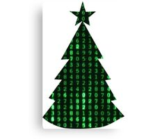 Christmas in the matrix Canvas Print