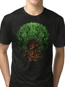 Celtic Tree of Life Knotwork Tri-blend T-Shirt