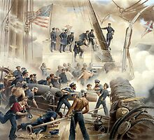 Civil War Naval Battle by warishellstore