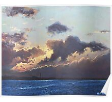 Sunset on the Solent Poster