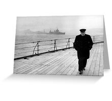 Winston Churchill At Sea Greeting Card