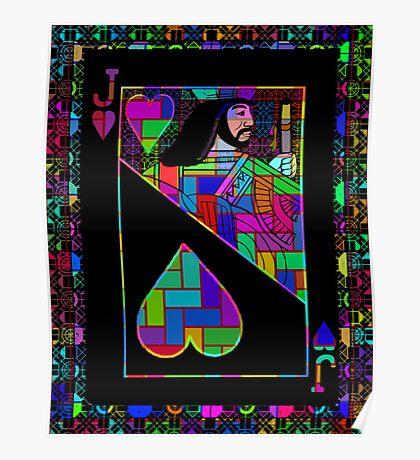 Pixel Jack of Hearts Poster