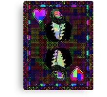 Pixel King of Hearts Canvas Print