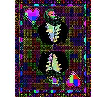 Pixel King of Hearts Photographic Print