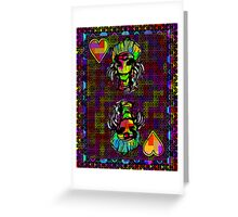 Pixel Queen of Hearts Greeting Card