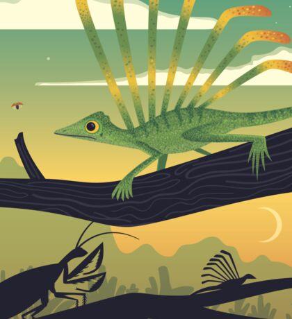 Longisquama Sunset Sticker