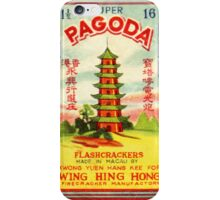 Vintage Firecracker Pack iPhone Case Series: Pagoda iPhone Case/Skin