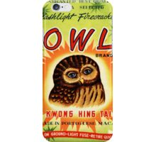 Vintage Firecracker Pack iPhone Case Series: The Owl Sees All iPhone Case/Skin