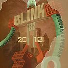 blink-182 Riot Fest Fan-made poster by Greg Clark