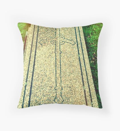 We pray for the dead, they pray for the living. Throw Pillow
