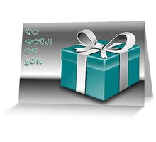 A Jade Wrapped Gift Box To Both Of You  Greeting Card