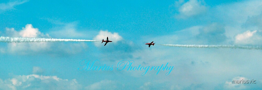 Two Red Arrows by mariusvic