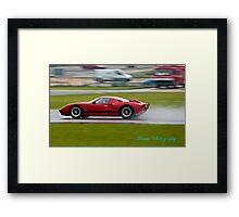 Sport Car history Framed Print