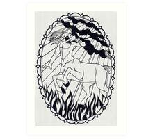 Centaur - invert Art Print