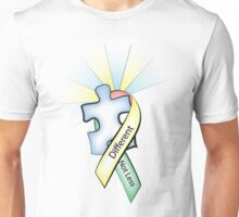 Autism Ribbon with Puzzle Peace Unisex T-Shirt