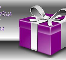 A Purple Wrapped Gift Box To Both Of You  by taiche