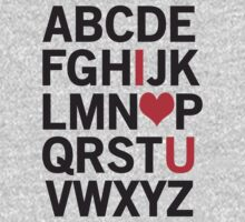 Alphabet Love Kids Tee