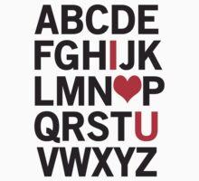Alphabet Love Kids Tee