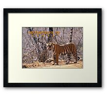 Bengal tiger Framed Print
