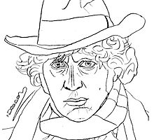 Tom Baker - 4th Doctor by natashadeacon